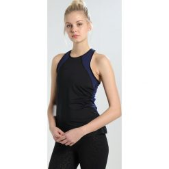 Nike Performance HYPERCOOL TANK Koszulka sportowa black/binary blue/white. Czarne topy sportowe damskie Nike Performance, xl, z elastanu. Za 149,00 zł.