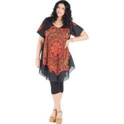 Odzież damska: Sukienka w kolorze czarno-pomarańczowym