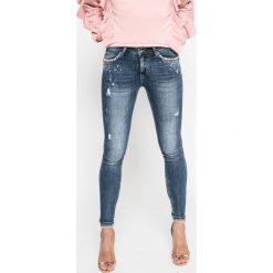 Answear - Jeansy. Niebieskie jeansy damskie marki ANSWEAR, z bawełny. W wyprzedaży za 129,90 zł.
