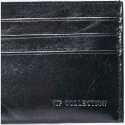 VIP COLLECTION - Portfel skórzany Milano. Czarne portfele męskie VIP COLLECTION, z materiału. W wyprzedaży za 24,90 zł.