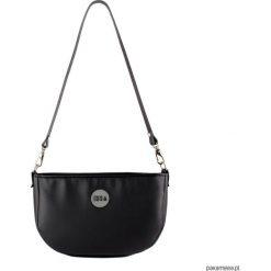 Mała czarna torebka z długim paskiem. Czarne torebki klasyczne damskie Pakamera, w paski, z bawełny, małe. Za 169,00 zł.