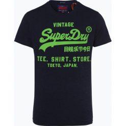 Superdry - T-shirt męski, niebieski. Niebieskie t-shirty męskie z nadrukiem Superdry, m. Za 99,95 zł.