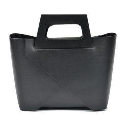 Torebki i plecaki damskie: Skórzana torebka w kolorze czarnym – (S)25 x (W)40 x (G)12 cm