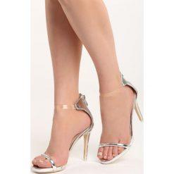 Srebrne Sandały Private Emotion. Białe sandały damskie marki Reserved, na wysokim obcasie. Za 69,99 zł.