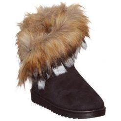 Skórzane botki w kolorze czarnym. Czarne buty zimowe damskie Carla Samuel, na zimę. W wyprzedaży za 169,95 zł.