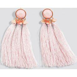 Kolczyki damskie: Schanna x NA-KD Kolczyki z chwostami – Pink