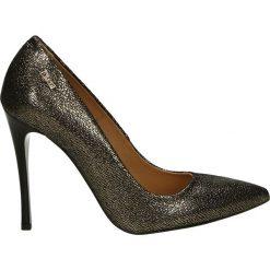 Czółenka - 2636 GOT FUCI. Żółte buty ślubne damskie Venezia, ze skóry. Za 179,00 zł.