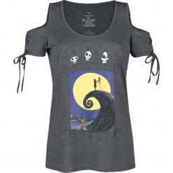 Miasteczko Halloween Zero Graveyard Koszulka damska odcienie ciemnoszarego. Szare bluzki z odkrytymi ramionami Miasteczko Halloween, xl, z nadrukiem, z okrągłym kołnierzem. Za 121,90 zł.