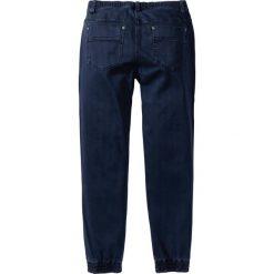 Spodnie ze stretchem, bez zamka SLIM FIT STRAIGHT bonprix ciemnoniebieski. Niebieskie joggery męskie marki bonprix. Za 59,99 zł.