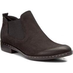 Sztyblety CARINII - B4192 360-000-PSK-C63. Czarne buty zimowe damskie Carinii, z materiału, na obcasie. W wyprzedaży za 219,00 zł.