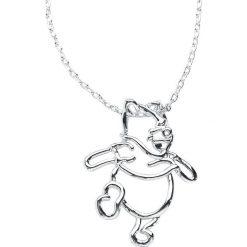 Biżuteria i zegarki damskie: Kubuś Puchatek Disney by Couture Kingdom - Winnie Pooh Naszyjnik srebrny