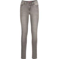 Dżinsy SKINNY bonprix jasnoszary denim. Szare jeansy damskie marki bonprix, z denimu. Za 99,99 zł.