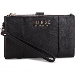 Duży Portfel Damski GUESS - SWVE71 7657 BLA. Czarne portfele damskie Guess, z aplikacjami, ze skóry ekologicznej. Za 279,00 zł.