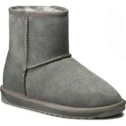Buty EMU AUSTRALIA - Stinger Mini W10003 Charcoal. Szare buty zimowe damskie EMU Australia, ze skóry, za kostkę. Za 639,00 zł.