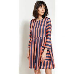 Sukienki: Pomarańczowa Sukienka Straight Line