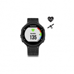 Zegarek GPS z kardio Forerunner 235 HRM. Czarne zegarki męskie marki Polar. Za 899,99 zł.