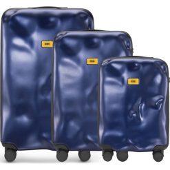 Walizki Icon w zestawie 3 el. granatowy. Niebieskie walizki Crash Baggage, z materiału. Za 2628,00 zł.