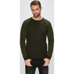 Jack & Jones - Sweter. Brązowe swetry klasyczne męskie Jack & Jones, l, z bawełny, z okrągłym kołnierzem. W wyprzedaży za 139,90 zł.