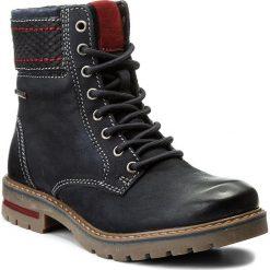 Trapery LASOCKI - WI16-AVILA-01 Granatowy. Niebieskie buty zimowe damskie Lasocki, z nubiku. Za 199,99 zł.