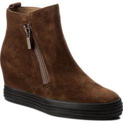 Botki GABOR - 72.672.41 Whisky. Brązowe buty zimowe damskie Gabor, z materiału, na obcasie. W wyprzedaży za 379,00 zł.