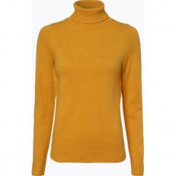 Brookshire - Sweter damski, żółty. Czarne golfy damskie marki brookshire, m, w paski, z dżerseju. Za 149,95 zł.