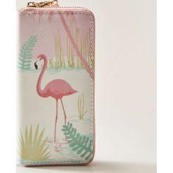 Portfele damskie: Portfel z flamingiem – Wielobarwn
