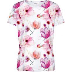 Colour Pleasure Koszulka damska CP-030 156 biało-różowa r. M/L. Fioletowe bluzki damskie marki Colour pleasure, uniwersalny. Za 70,35 zł.