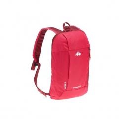 Plecak turystyczny NH100 10 l. Czerwone plecaki męskie marki QUECHUA, z materiału. Za 12,99 zł.