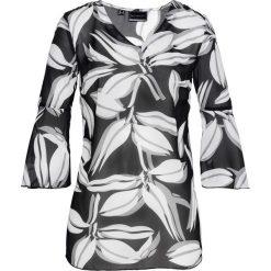 Tuniki damskie z nadrukiem: Tunika z nadrukiem bonprix czarno-biały