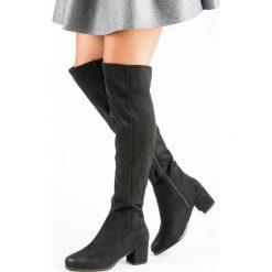 MUSZKIETERKI NA OBCASIE VINCEZA. Czarne buty zimowe damskie marki Vinceza, na obcasie. Za 179,00 zł.