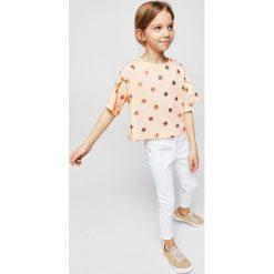 Mango Kids - Top dziecięcy Alovi 110-164 cm. Szare bluzki dziewczęce marki Mango Kids, z bawełny, z okrągłym kołnierzem. Za 49,90 zł.