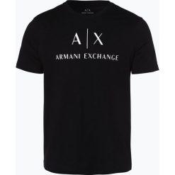 Armani Exchange - T-shirt męski, czarny. Czarne t-shirty męskie z nadrukiem marki Armani Exchange, l, z materiału, z kapturem. Za 139,95 zł.