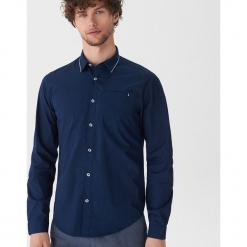 Koszula z ozdobnym detalem - Granatowy. Niebieskie koszule męskie House, l. Za 69,99 zł.