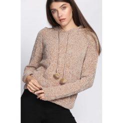 Beżowy Sweter Erratic. Brązowe swetry klasyczne damskie Born2be, na jesień, l. Za 89,99 zł.