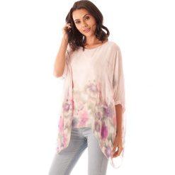 Bluzki damskie: Koszulka w kolorze jasnoróżowym