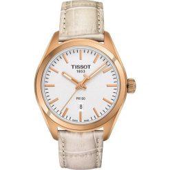 PROMOCJA ZEGAREK TISSOT T- CLASSIC. Białe zegarki męskie TISSOT, ze stali. W wyprzedaży za 1100,00 zł.