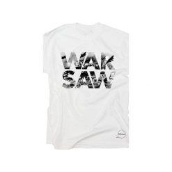 T-shirt WARSAW. Białe t-shirty męskie z nadrukiem Hellowawa, l, z bawełny. Za 74,90 zł.