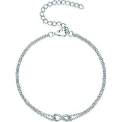 Srebrna bransoletka z elementem ozdobnym. Szare bransoletki damskie na nogę Stylowa biżuteria, srebrne. W wyprzedaży za 86,95 zł.