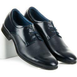 Półbuty wizytowe. Niebieskie buty wizytowe męskie LUCCA. Za 219,00 zł.