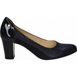 Czółenka - F321 BON BLU. Czarne buty ślubne damskie Venezia, ze skóry. Za 199,00 zł.