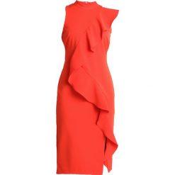 Coast KARLY RUFFLE SHIFT DRESS Sukienka etui tomato. Czerwone sukienki marki Coast, z elastanu. Za 579,00 zł.