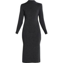 Sukienki dzianinowe: IVY & OAK ROLLNECK  Sukienka dzianinowa dark grey melange
