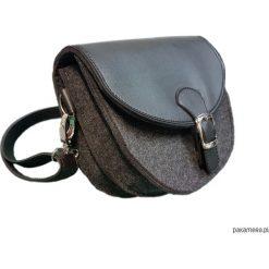 Torebki klasyczne damskie: torebka z filcu i skaju na ramię