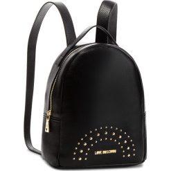 Plecak LOVE MOSCHINO - JC4117PP16LU000A Nero/Oro. Czarne plecaki damskie marki Love Moschino, ze skóry ekologicznej, eleganckie. Za 719,00 zł.