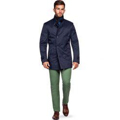 Płaszcz Navy Apollos. Niebieskie płaszcze na zamek męskie LANCERTO, na zimę, l, z syntetyku, eleganckie. Za 799,90 zł.