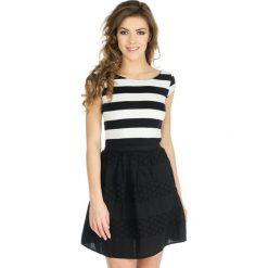 Odzież damska: Sukienka Naf Naf w kolorze biało-czarnym
