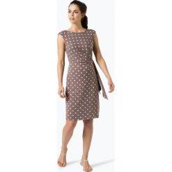 Ambiance - Sukienka damska, beżowy. Brązowe sukienki z falbanami Ambiance, w kropki. Za 279,95 zł.