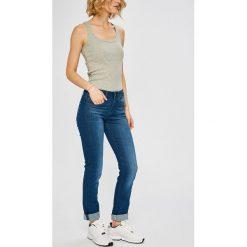 G-Star Raw - Jeansy Midge. Niebieskie proste jeansy damskie marki G-Star RAW. W wyprzedaży za 429,90 zł.
