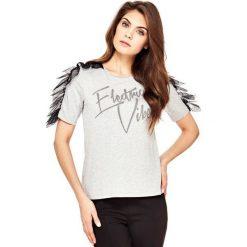 T-shirty męskie: T-Shirt Z Tiulowymi Detalami