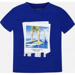 Mayoral - T-shirt dziecięcy 128-172 cm. Szare t-shirty chłopięce z nadrukiem Mayoral, z bawełny, z okrągłym kołnierzem. Za 64,90 zł.
